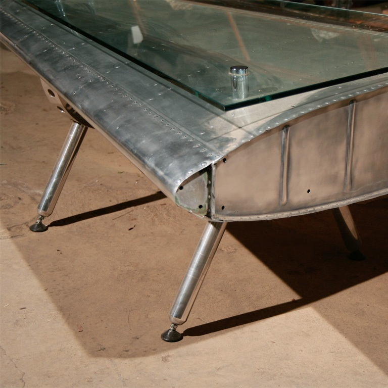 Airplane Fin Coffee Table - Finnegan Gallery - Airplane Fin Coffee Table