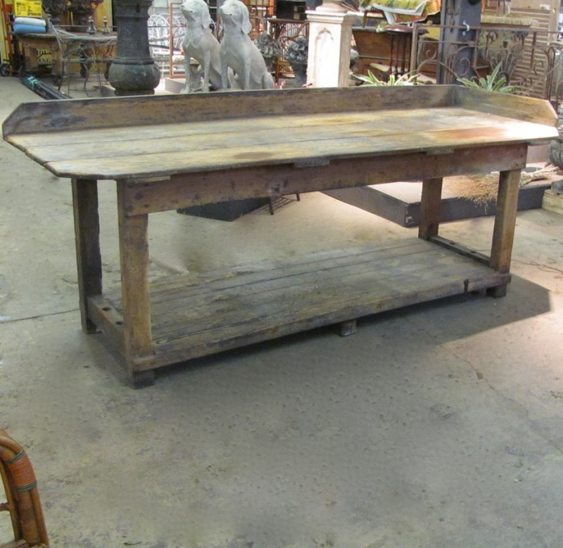 Finnegan Gallery Work Table From An English Bakery