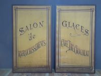 Large Pair of French Cafe Signs