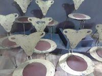 Set of 10 Italian Mid-Century Chairs
