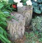 Pair of Carved Stone Garden Seats